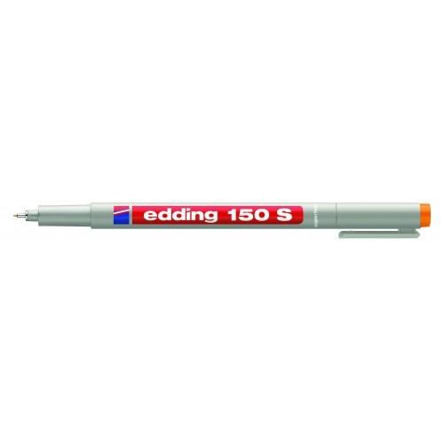 Маркер для проекторных пленок смываемый Edding (Эддинг) 150S, круглый наконечник, 0,3 мм, оранжевый 006