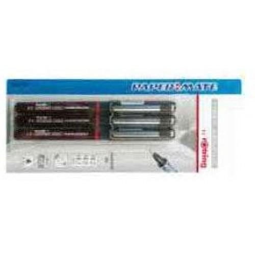Набор ручек капиллярных для черчения Rotring (Ротринг) Grafic, 0,2, 0,4, 0,8 мм, черный, 3 шт/уп, блистер, арт. S0814880