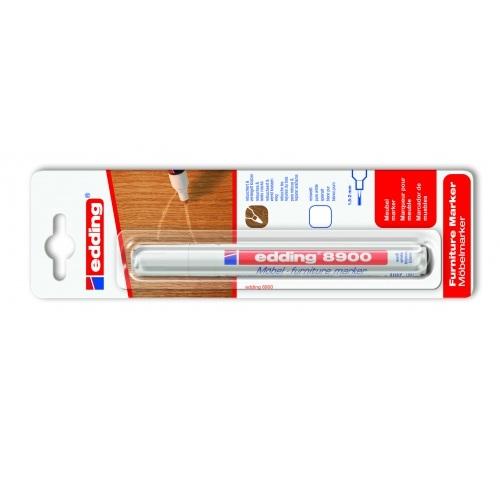 Маркер для мебели Edding (Эддинг) 8900, 1,5-3 мм, белый, блистер