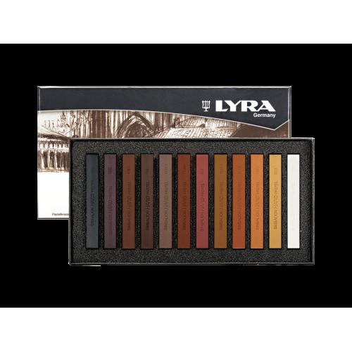 Набор пастельных мелков Lyra Polycrayons Soft, в коричневых тонах, 12 шт, арт.L5641121