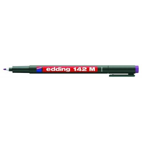 Маркер для проекторных пленок Edding (Эддинг) 142M, круглый наконечник, 1 мм, фиолетовый 008