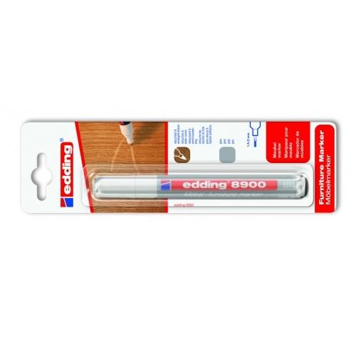 Маркер для мебели Edding (Эддинг) 8900, 1,5-2 мм, серый, блистер