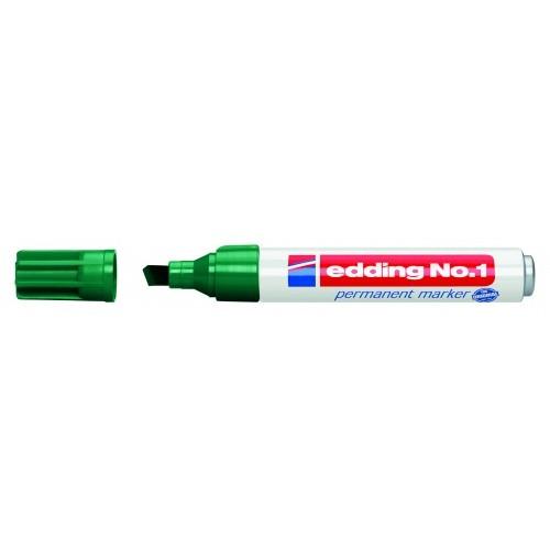 Маркер перманентный промышленный Edding (Эддинг) 1, клиновидный наконечник, 1-5 мм, зеленый 004