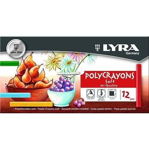 Набор пастельных мелков Lyra Polycrayons Soft, 12 шт, арт.L5651120