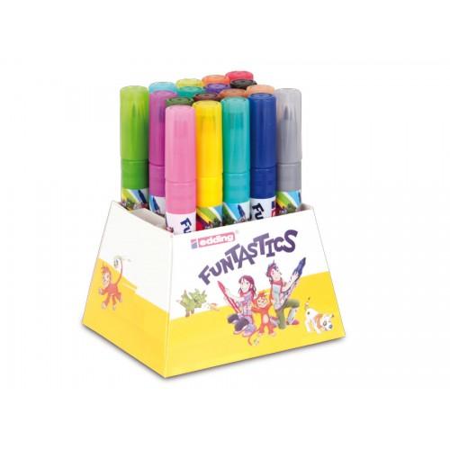 Набор маркеров для рисования Edding (Эддинг) 14 Funtastics, круглый наконечник, 3 мм, 18 цветов