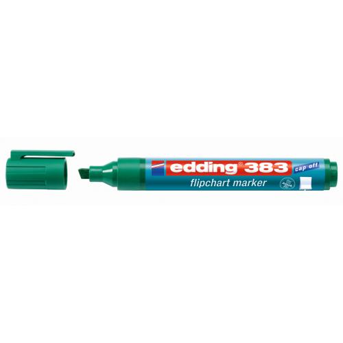 Маркер для флипчарта Edding (Эддинг) 383, клиновидный наконечник, 1-5 мм, зеленый 004