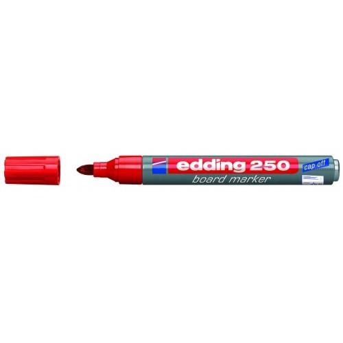 Маркер для эмалевых досок Edding (Эддинг) 250, круглый наконечник, 1,5-3 мм, красный 002