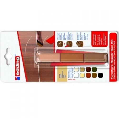 Воск мебельный для ремонта мебели Edding (Эддинг) 8901, бук 608, 3 шт/уп,