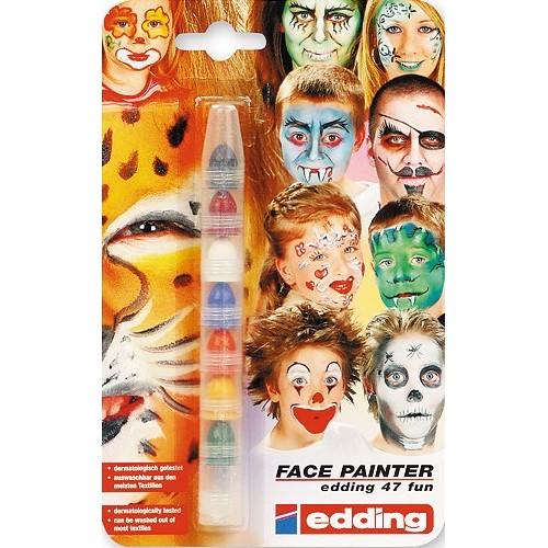 Грим-маркет для детей Edding (Эддинг) Funtastics 47FUN, 2-4 мм, 7 цветов, блистер