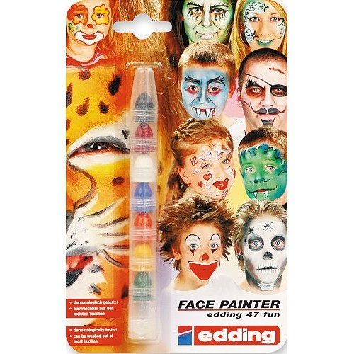Грим-маркер для детей Edding (Эддинг) Funtastics 47FUN, 2-4 мм, 7 цветов, блистер