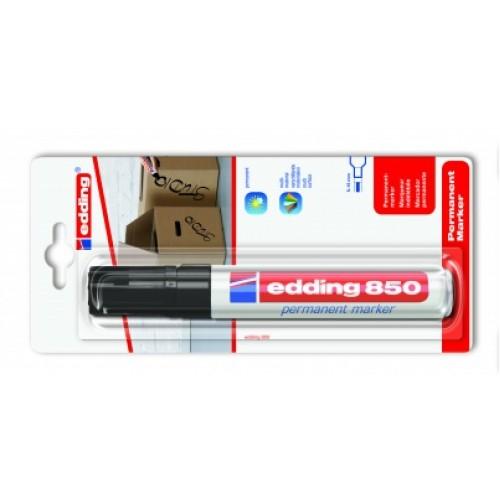Маркер перманентный промышленный Edding (Эддинг) 850, клиновидный наконечник, 5-16 мм, черный 001, блистер