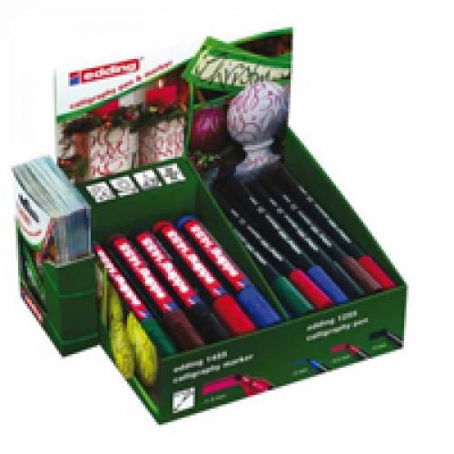 Дисплей Edding (Эддинг) ручки E-1255х24 шт и маркеры Е-1455х14 шт, ассорти