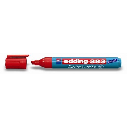 Маркер для флипчарта Edding (Эддинг) 383, клиновидный наконечник, 1-5 мм, красный 002