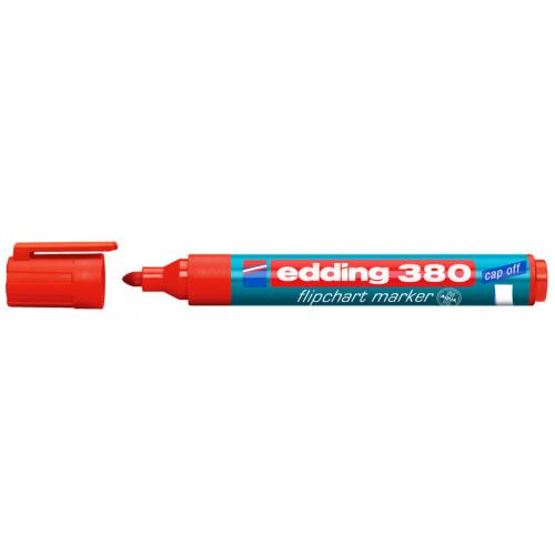 Маркер для флипчарта Edding (Эддинг) 380, круглый наконечник, 1,5-3 мм, красный 002