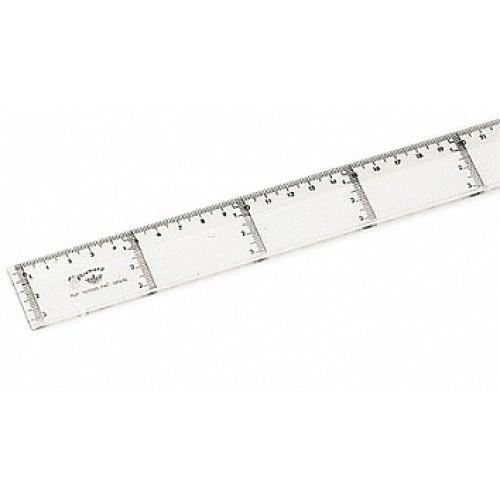 Линейка прозрачная для параллельных линий Domingo Ferrer (Доминго Феррер), 20 см, арт. DF101020