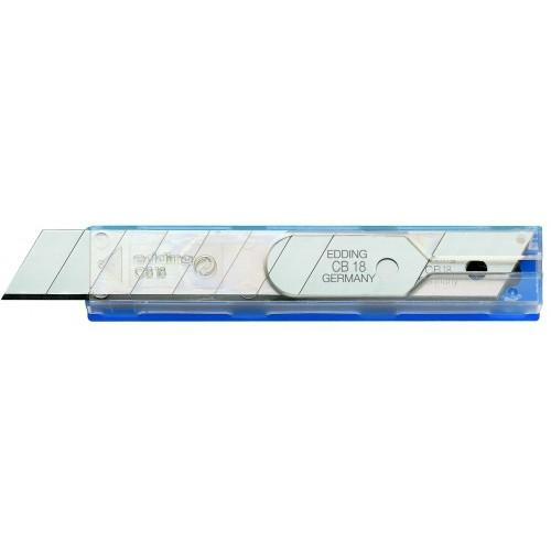 Лезвие запасное для канцелярского ножа Edding (Эддинг) CB18, для M18 и ML18, 18 мм.