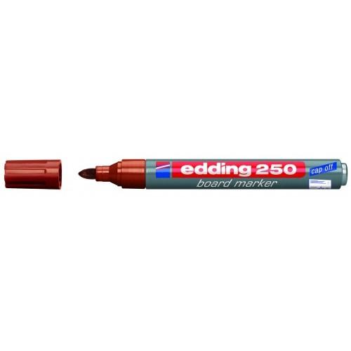 Маркер для эмалевых досок Edding (Эддинг) 250, круглый наконечник, 1,5-3 мм, коричневый 007