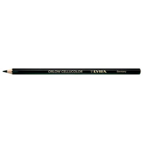 Карандаш Lyra Orlow Cellucolor для стекла и гладких поверхностей, трудностираемый, черный, арт.L2940099