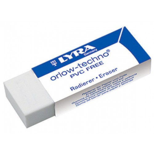 Ластик пластиковый Lyra Orlow-Techno, самоочищающийся, арт.L7410200